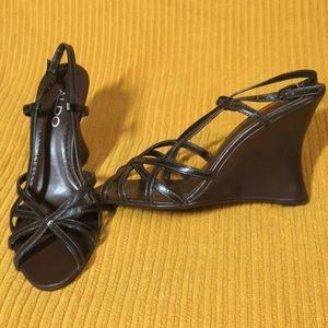 New! Aldo Brazilian slingback wedge sandals